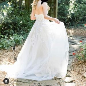 Lace Tulle Ball Gown Wedding Dress DAVID'S BRIDAL